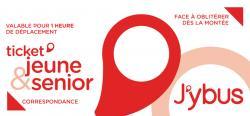 Carnet de 10 tickets Jeune et Senior J'ybus